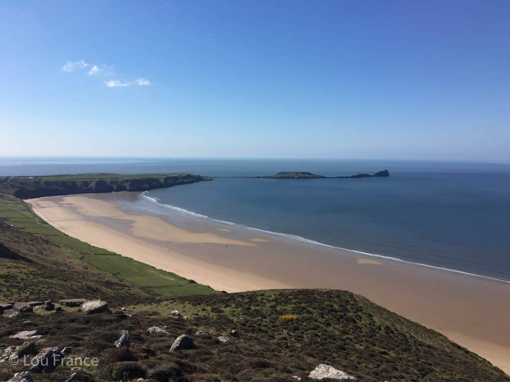 The Gower Peninsula is a beautiful place in Wales to visit