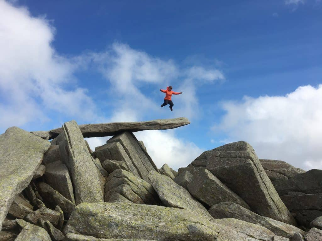 The Cantilever Stone on Glyder Fach is an iconic landmark in Snowdonia