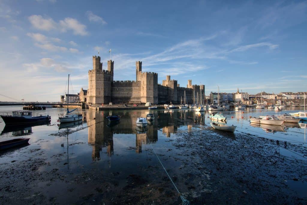 Caernarfon castle is arguably the best castle in North Wales