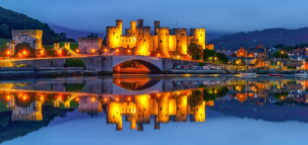 Conwy castle is one of the most impressive castles in North Wales