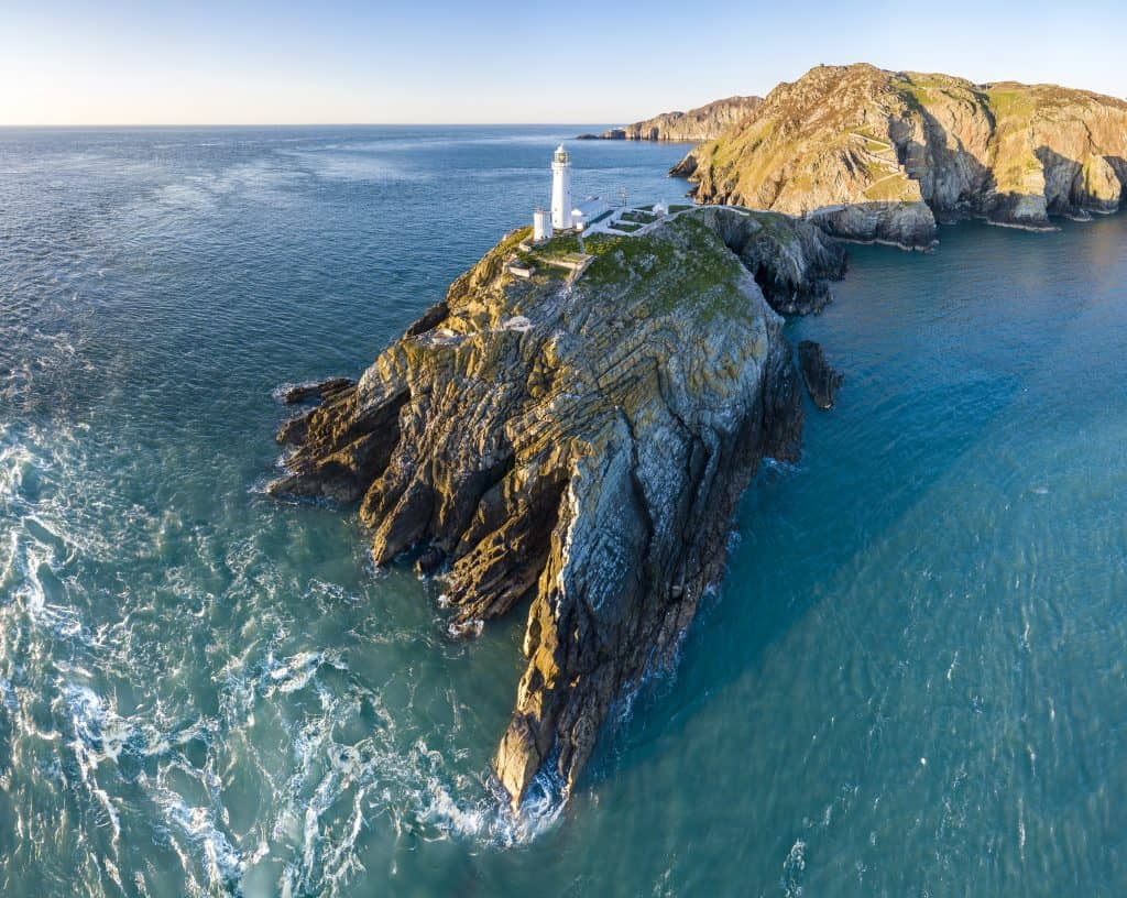 South stack is an impressive Anglesey lighthouse