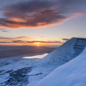Sunrise over Llyn y fan Fawr