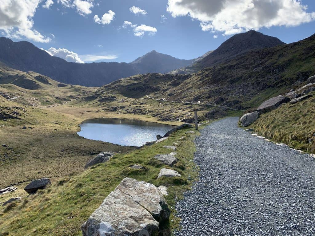 The Miners track is an easy Snowdon path the follow
