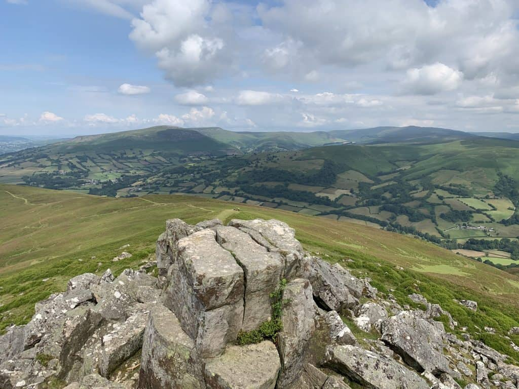 Views from the summit of Sugar Loaf UK