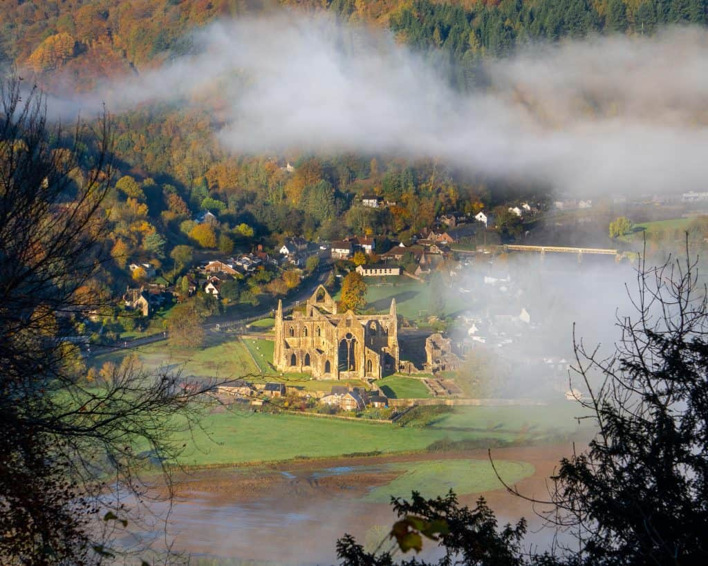 Tintern Abbery is one of the most Instagrammable places in Wales